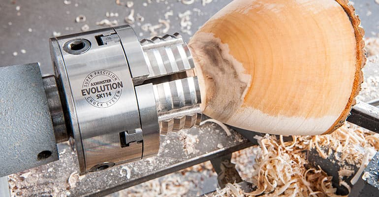 Woodturning with Evolution chuck
