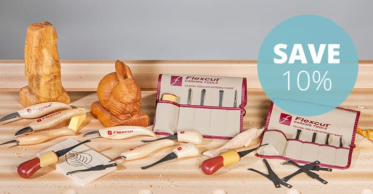 10% off Flexcut carving tools