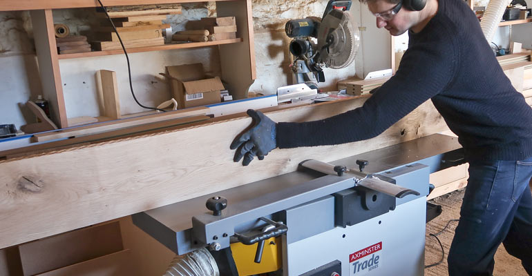 Atelier Cabinet Makers Review Axminster's Planer Thicknesser