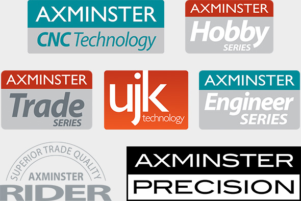 Axminster Hobby Series, Axminster Trade Series, UJK Technology, Axminster Model Engineer Series, Axminster CNC Machinery, Axminster Rider, Axminster Precision... and more