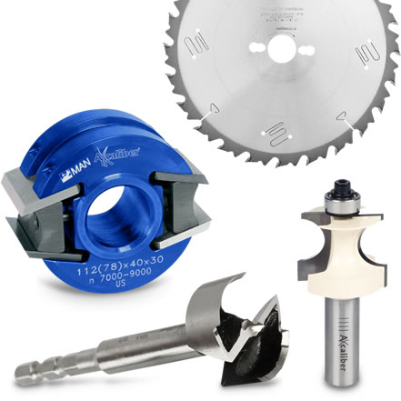 Axcaliber blades, cutters and tooling