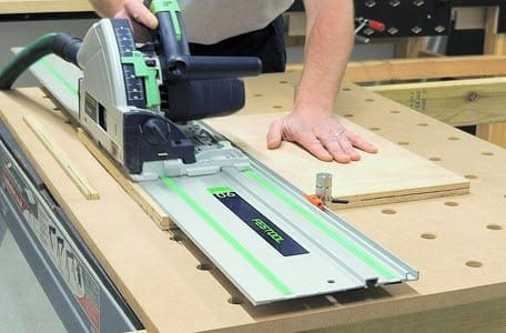 Guide rail and track saw