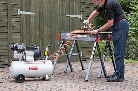 In use with nailer / stapler