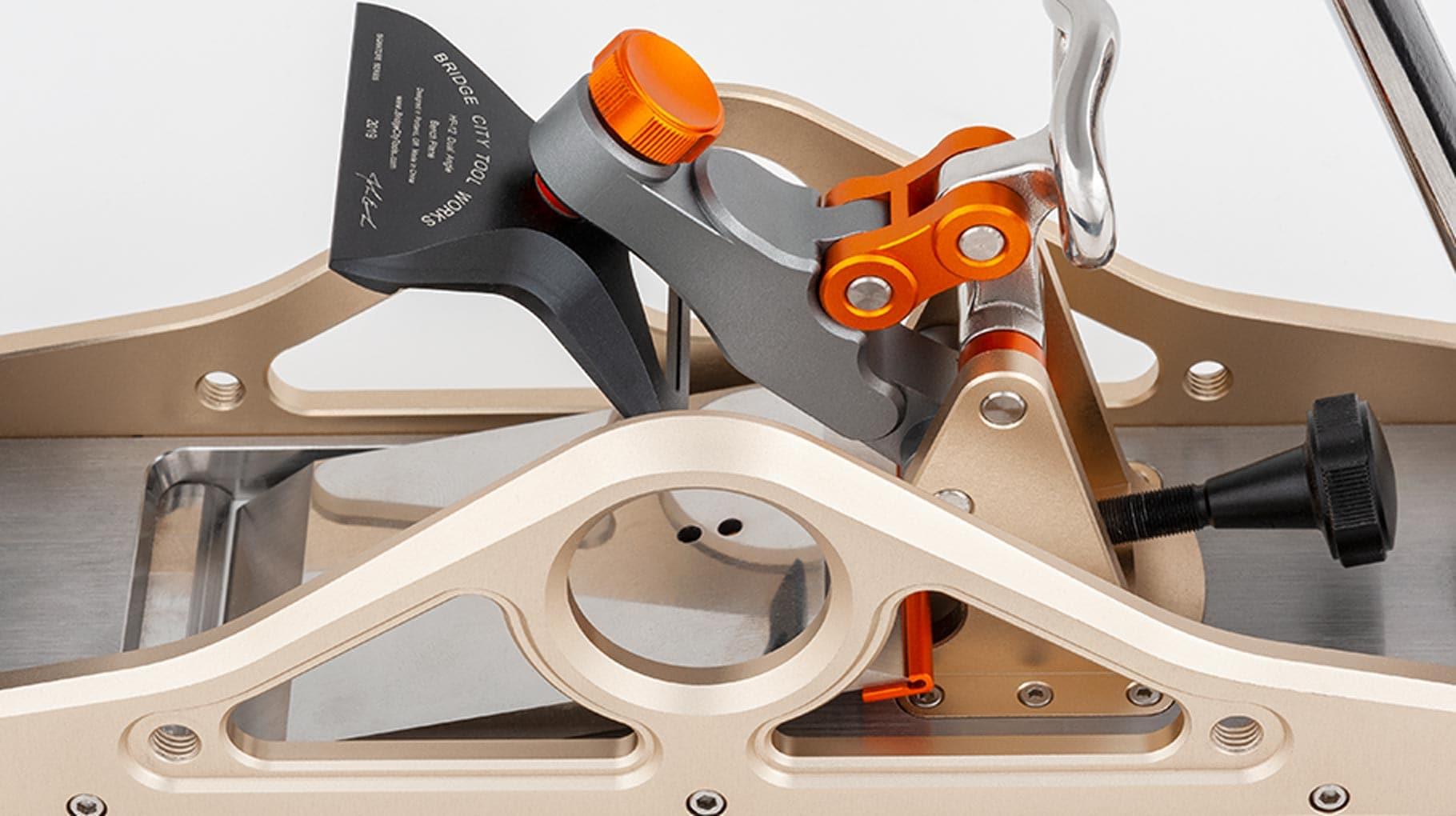 Unique blade locking mechanism