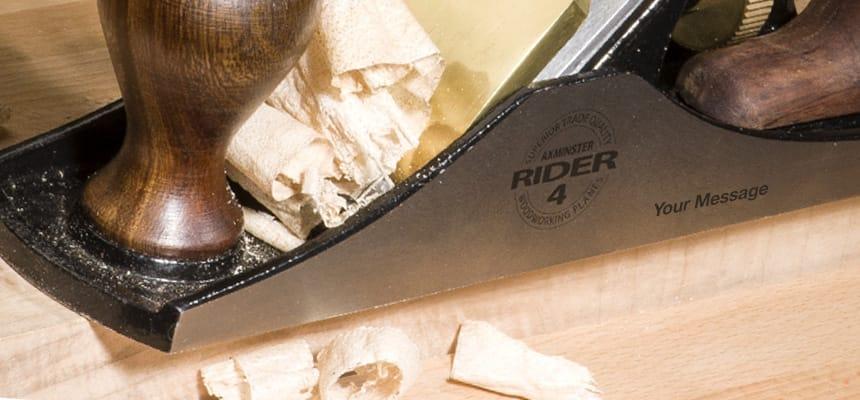 Rider Plane Engraving