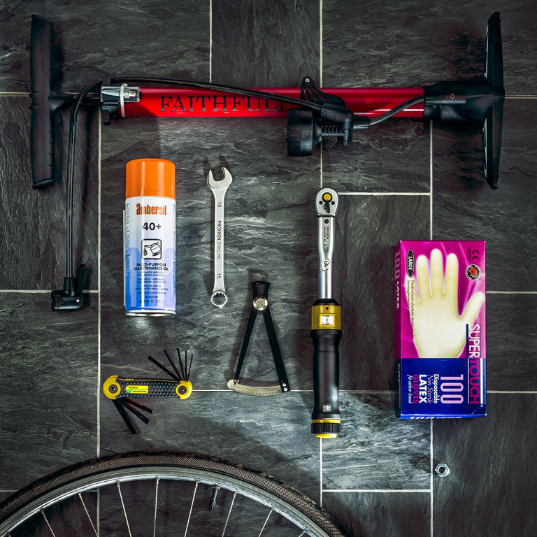 Be prepared for bicycle maintenance