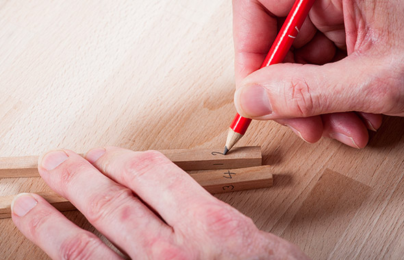 How to make chopsticks -  Step 2