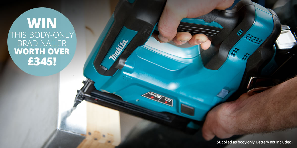 Win! This body-only Brad Nailer worth over £350! Battery not supplied.