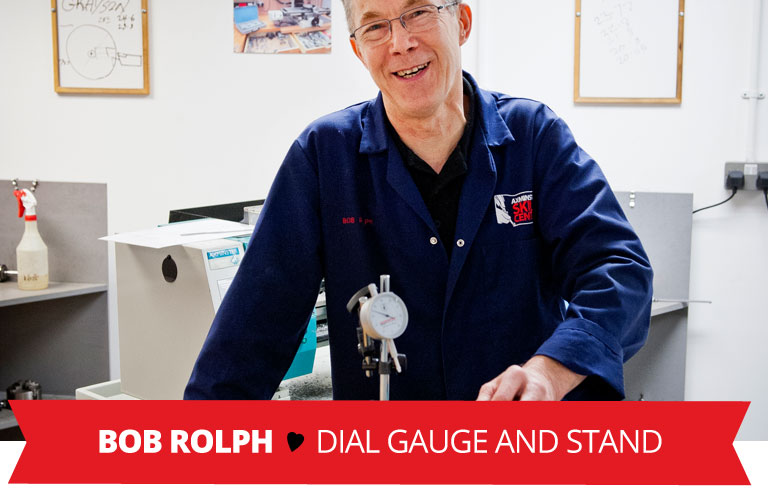 Staff Valentine Pick - Dial Gauge and Stand
