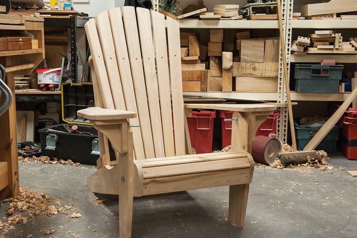 Making an Adirondack chair