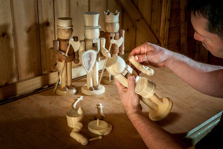 Turning a German nutcracker