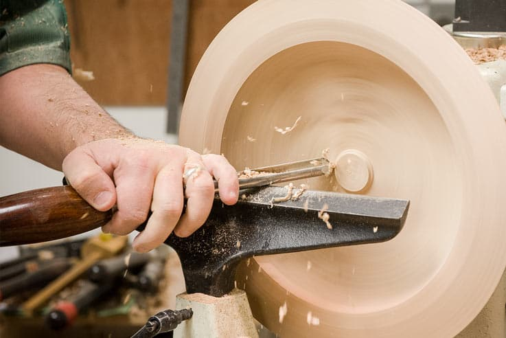 Turning bowls and platters