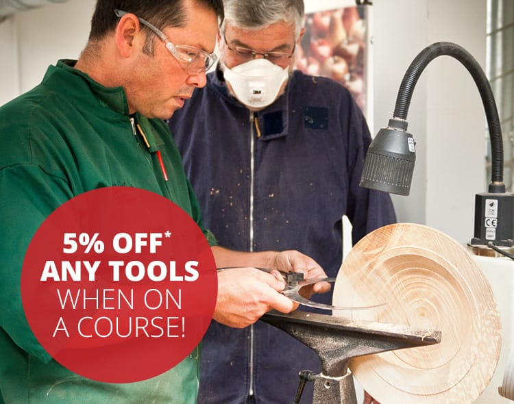 5% off any tools when on a course